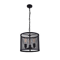 Heale 14 inch 3 Light Chandelier with Reddish Black Finish