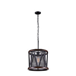 Parsh 13 inch 1 Light Chandelier with Pewter Finish