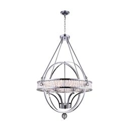 CWI Lighting Arkansas 30-inch 6-Light Chandelier with Chrome Finish