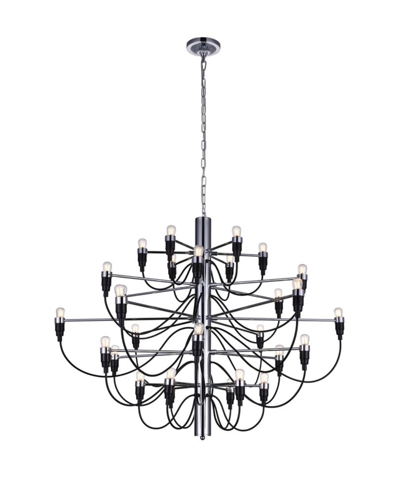 CWI Lighting Hayden 34 inch 30 Light Chandelier with Chrome Finish