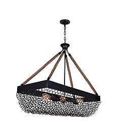 Mackenzie 40 inch 6 Light Chandelier with Antique Black Finish