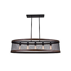 Torres 43 inch 5 Light Chandelier with Black Finish