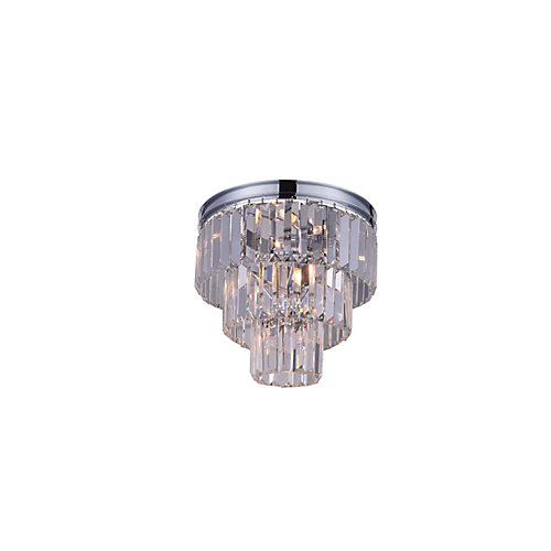 Weiss 12 inch 8 Light Flush Mount with Chrome Finish