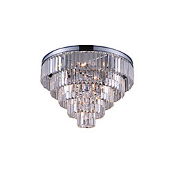 Weiss 18 inch 7 Light Flush Mount with Chrome Finish