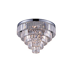 Weiss 24 inch 12 Light Flush Mount with Chrome Finish