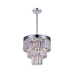 Weiss 12 inch 8 Light Chandelier with Chrome Finish