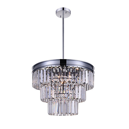 Weiss 18 inch 5 Light Chandelier with Chrome Finish