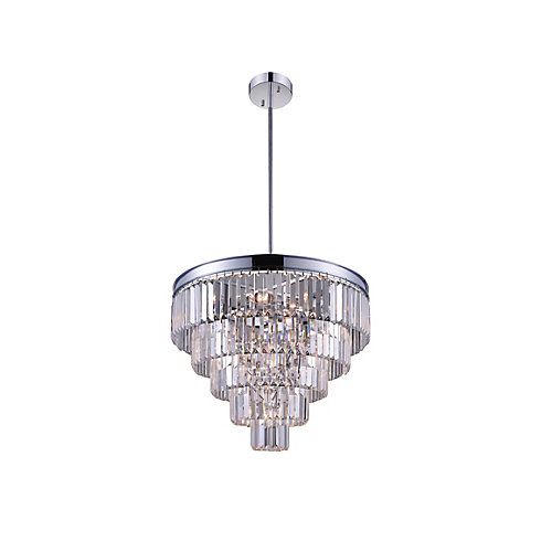 Weiss 18 inch 7 Light Chandelier with Chrome Finish