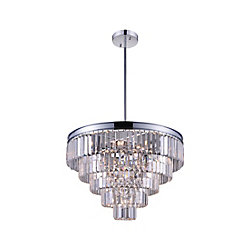 Weiss 24 inch 12 Light Chandelier with Chrome Finish