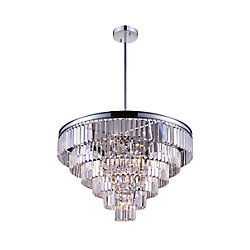 Weiss 30 inch 15 Light Chandelier with Chrome Finish