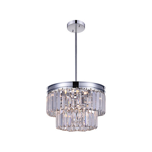 Weiss 8 inch 5 Light Pendant with Chrome Finish