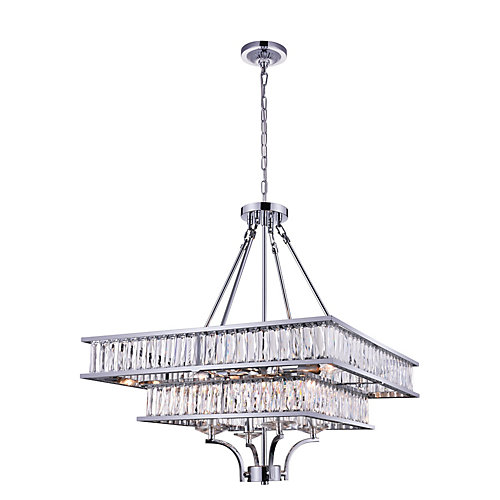 Shalia 23 inch 8 Light Chandelier with Chrome Finish