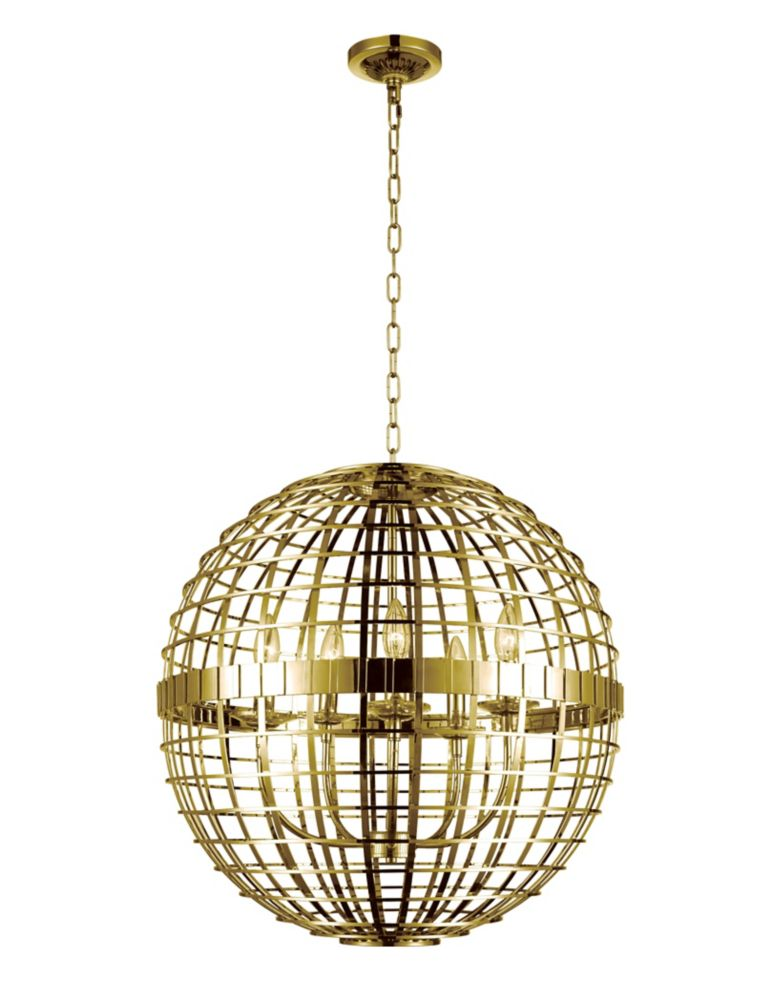 CWI Lighting Niya 22 inch 5 Light Chandelier with Gold Finish
