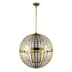 Niya 28 inch 6 Light Chandelier with French Gold Finish