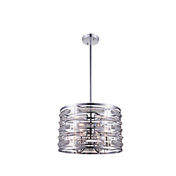 Petia 15 inch 4 Light Chandelier with Chrome Finish