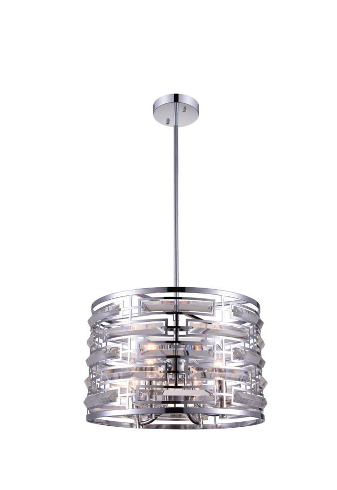 CWI Lighting Petia 15 inch 4 Light Chandelier with Chrome Finish