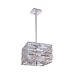 Petia 15 inch 6 Light Chandelier with Chrome Finish