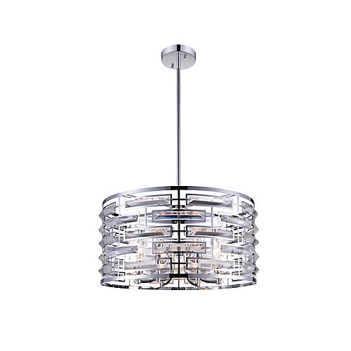 Petia 20 inch 6 Light Chandelier with Chrome Finish