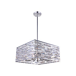 Petia 21 inch 8 Light Chandelier with Chrome Finish