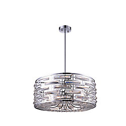 Petia 25 inch 8 Light Chandelier with Chrome Finish