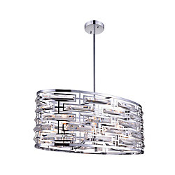 Petia 27 inch 6 Light Chandelier with Chrome Finish
