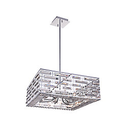 Petia 28 inch 8 Light Chandelier with Chrome Finish