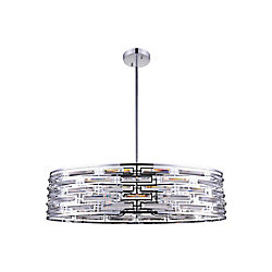 Petia 39 inch 8 Light Chandelier with Chrome Finish