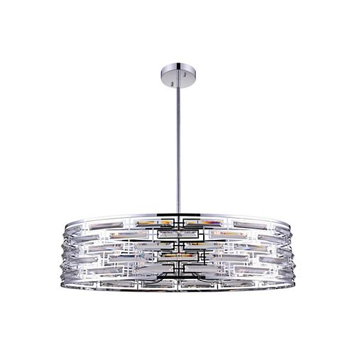 CWI Lighting Petia 39 inch 8 Light Chandelier with Chrome Finish