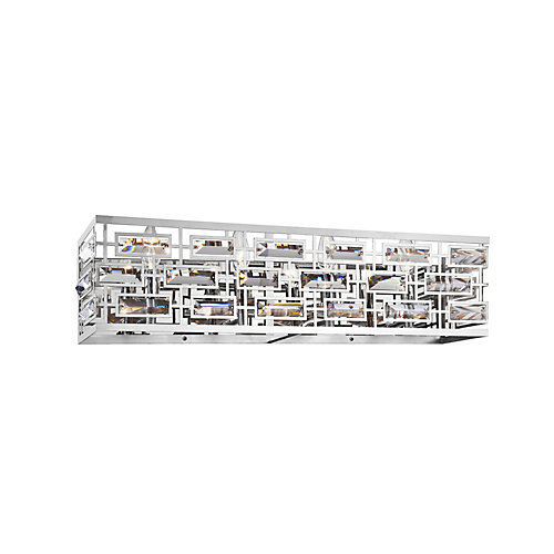 Petia 26 inch 4 Light Wall Sconce with Chrome Finish