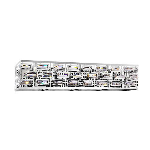 Petia 34 inch 5 Light Wall Sconce with Chrome Finish