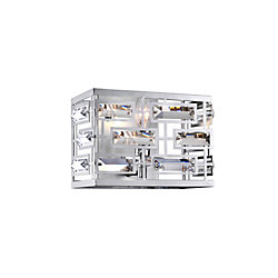 Petia 9 inch 1 Light Wall Sconce with Chrome Finish