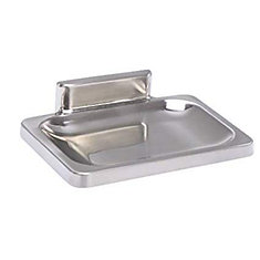 Soap Dish Concealed Screw 4 inch Wide X 3 inch Deep, Chrome Plated