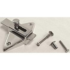 Slide Latch For Laminate Door With Screws, 2-3/4 inch