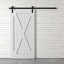 URBAN WOODCRAFT Le X Barn Door By (Gris)