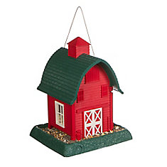 Barn Birdfeeder - Red (Plastic)