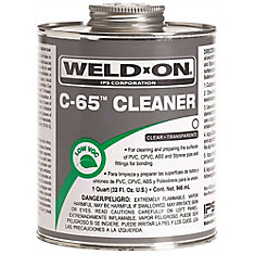 Weld-On  C-65 Pipe Cleaner For Abs, Pvc, Cpvc, And Styrene, Clear, 1/4-Pint