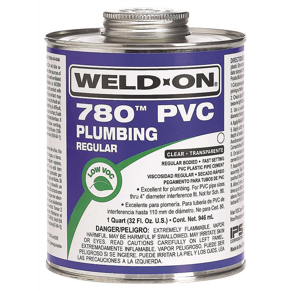 Weld On 780 Regular Bodied Pvc Cement Clear Pint