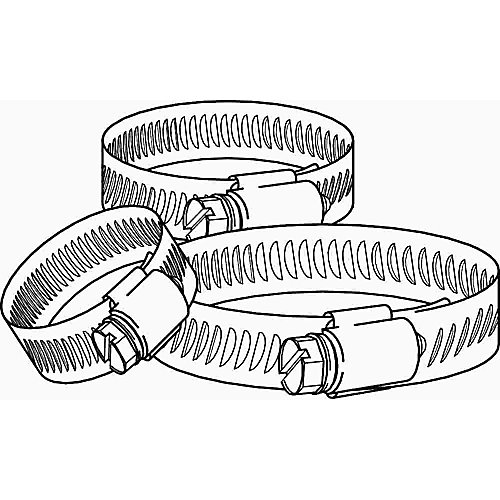 Breeze Hose Clamp, Stainless Steel, 13/16 In. To 1-3/4 In., (10-Pack)