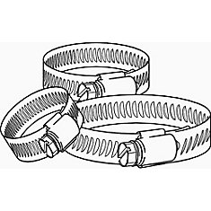 Breeze Hose Clamp, Stainless Steel, 13/16 In. To 1-3/4 In., Pack Of 10