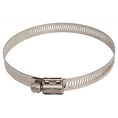 Breeze Marine Grade Hose Clamp, Stainless Steel, 1-7/8 In. To 5 In. (10-Pack)