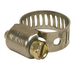 Breeze Clamp Mini Hose Clamp, 410 Stainless Steel, 7/32 In. To 5/8 In., (10-Pack)