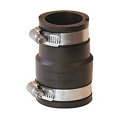 Fernco Flexible Coupling 1 1/2 In X 1 1/4 In