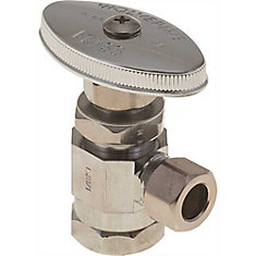 Angle Stop 1/2 inch Fip X 3/8 inch Od Compression Lead Free