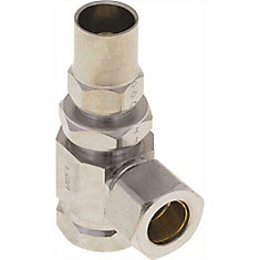Lock Shield Angle Stop 1/2 inch Nom Comp X 3/8 inch Od Comp With Stuffing Box, Lead Free