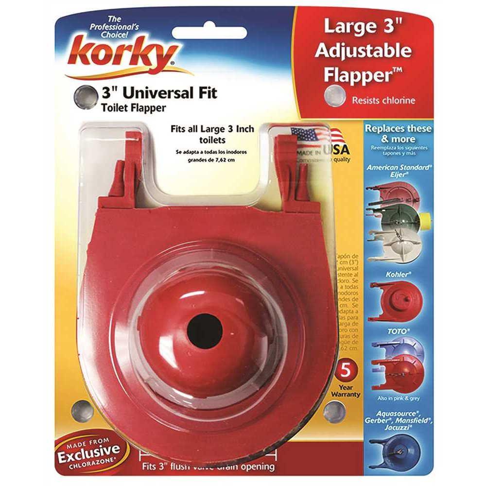 Korky Universal Flapper, 3 inch