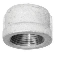 Galvanized Malleable Cap, 1-1/2 In.