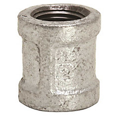 Proplus Galvanized Malleable Fitting Coupling, 3/4 In., Lead Free