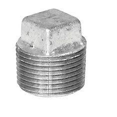 Proplus Galvanized Malleable Plug, 1/2 inch Lead Free