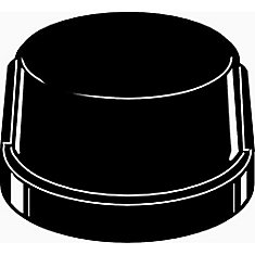 Black Malleable Cap, 3/4 inch