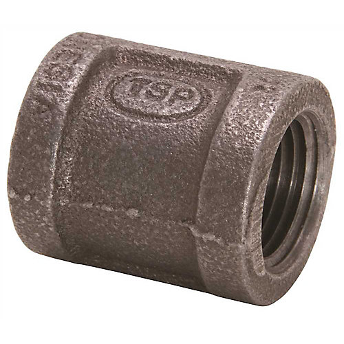 Black Malleable Coupling, 3/4 inch